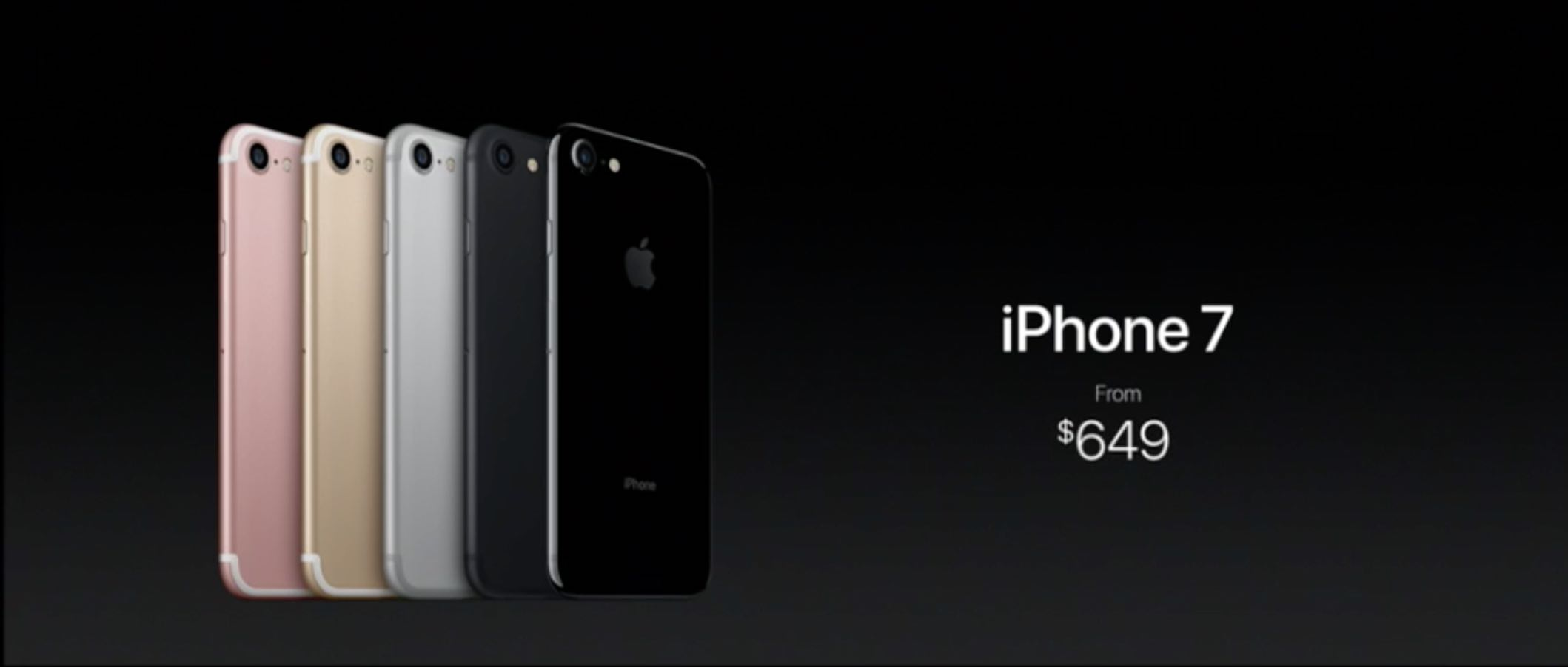 Pictures of the iPhone 7